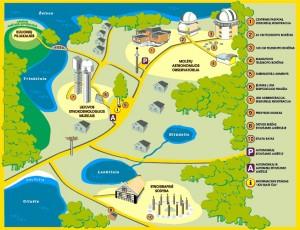Molėtų observatorijos žemėlapis