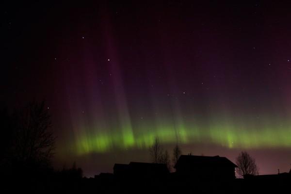 Šiaurės pašvaistė. Lietuva, 2015-03-18.
