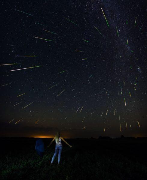 Perseidų meteorų srautas. Foto Tado Janušonio