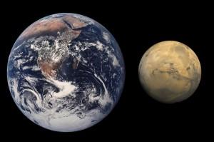 Žemė ir Marsas