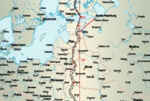 Struvės lanko žemėlapis