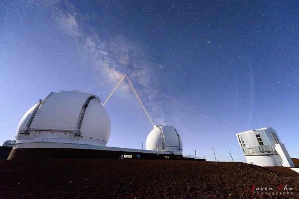 Four Lasers over Mauna Kea