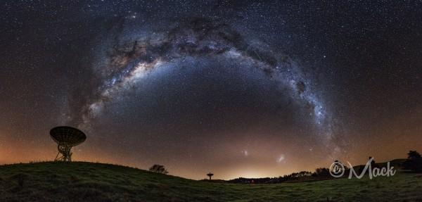 Three Galaxies over New Zealand