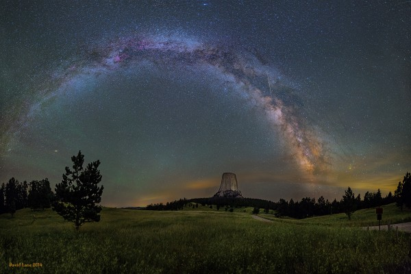 Milky Way over Devils Tower