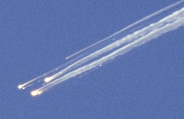 Erdvėlaivio Columbia nuolaužų kritimas
