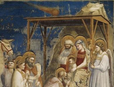 Dailininko Giotto freska su kometa