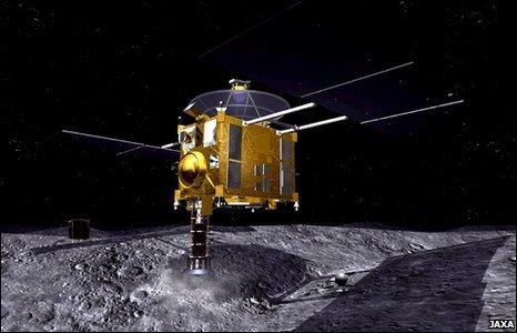 Japonų erdvėlavis Hayabusa prie asteroido