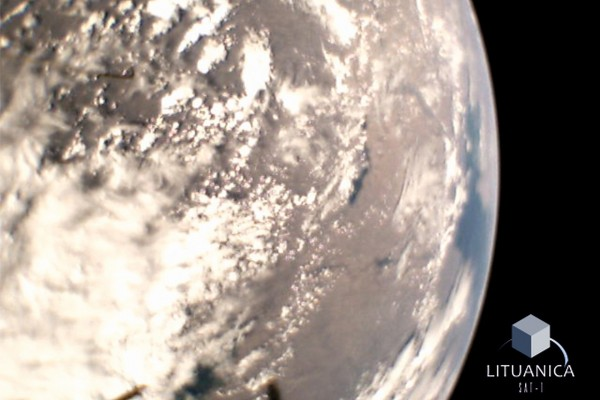 LituanicaSat-1 padaryta Žemės nuotrauka iš kosmoso