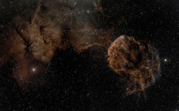 Sharpless 249 and the Jellyfish Nebula