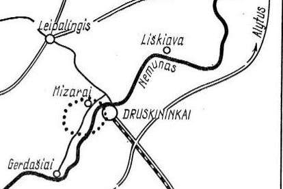 Mizarų meteoritinio kraterio vieta