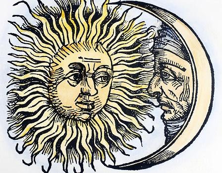 saulės ir mėnulio simboliai
