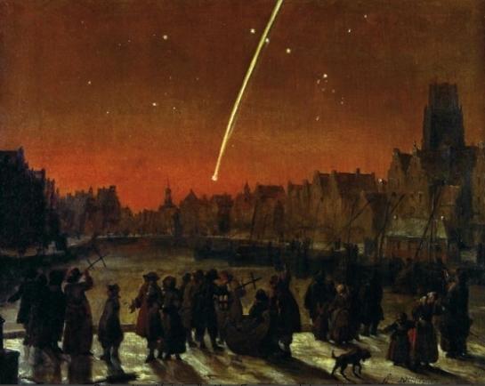 Kometos stebėjimas 1680 m.