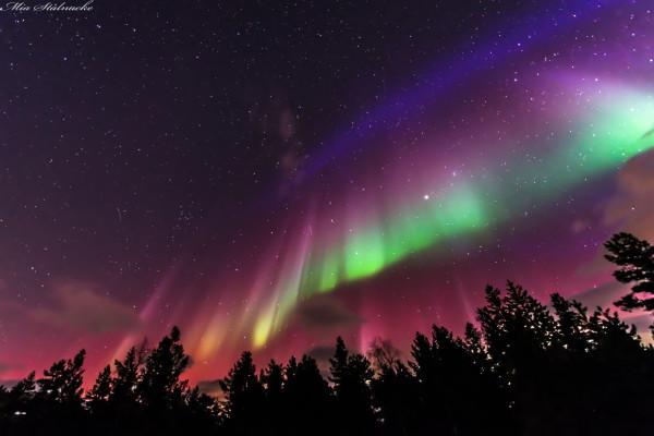 A Flag Shaped Aurora over Sweden