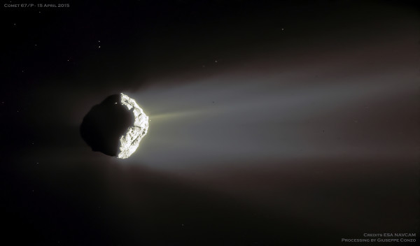 Comet Churyumov Gerasimenko in Crescent