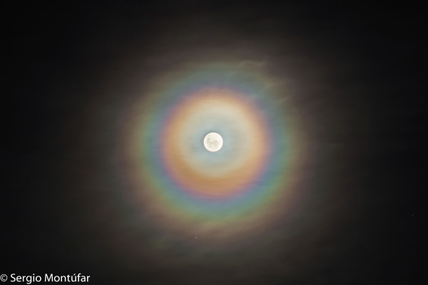 A Colorful Lunar Corona