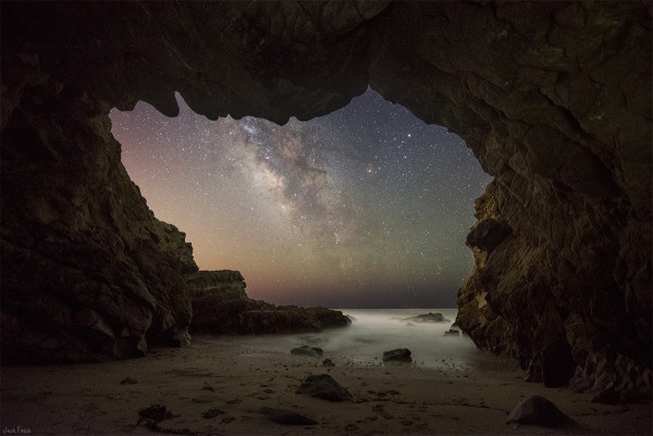 The Milky Way from a Malibu Sea Cave