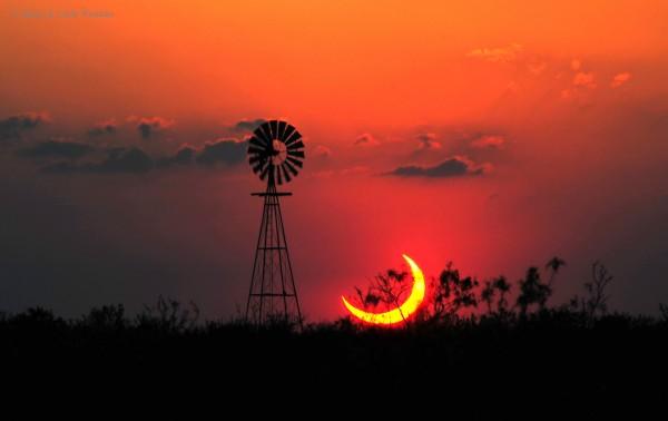 A Partial Solar Eclipse over Texas