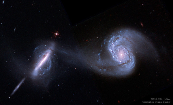 Arp 87: Merging Galaxies from Hubble