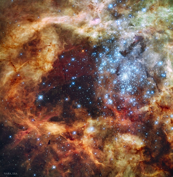 Star Cluster R136 Bursts Out
