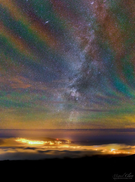 Rainbow Airglow over the Azores