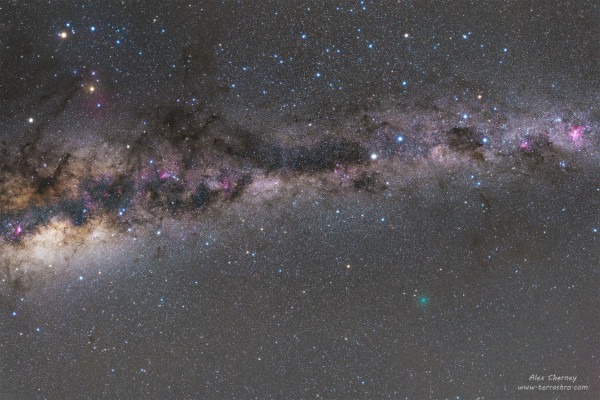 Close Comet and the Milky Way
