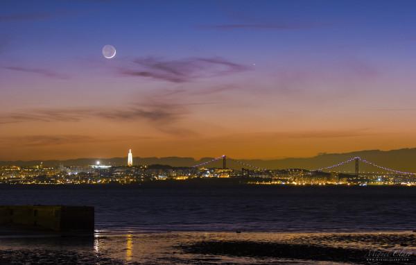 Mercury and Crescent Moon Set