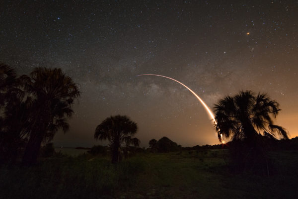 Falcon 9 and Milky Way