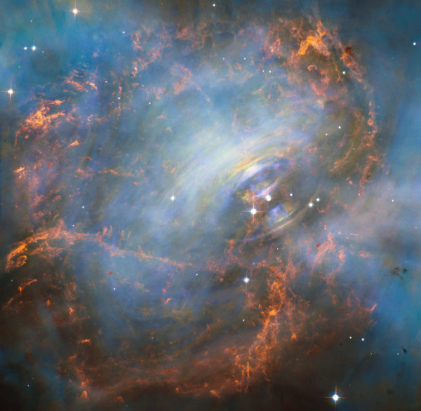 The Swirling Core of the Crab Nebula