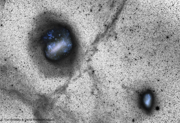 Deep Magellanic Clouds Image Indicates Collisions
