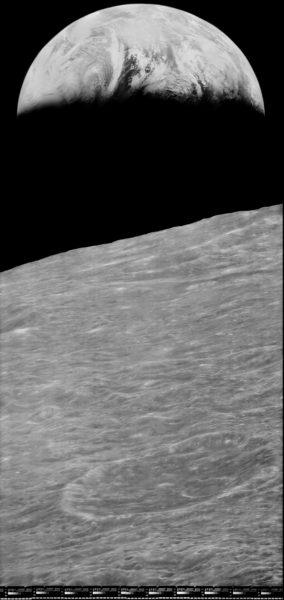 Lunar Orbiter Earthset