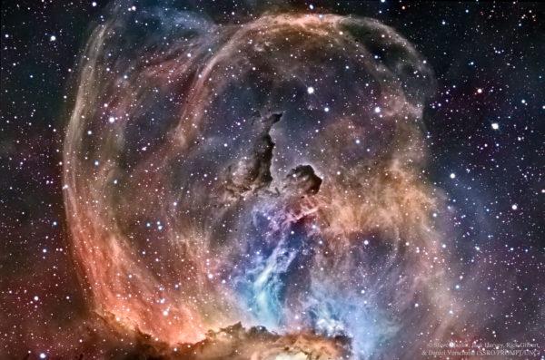 NGC 3576: The Statue of Liberty Nebula