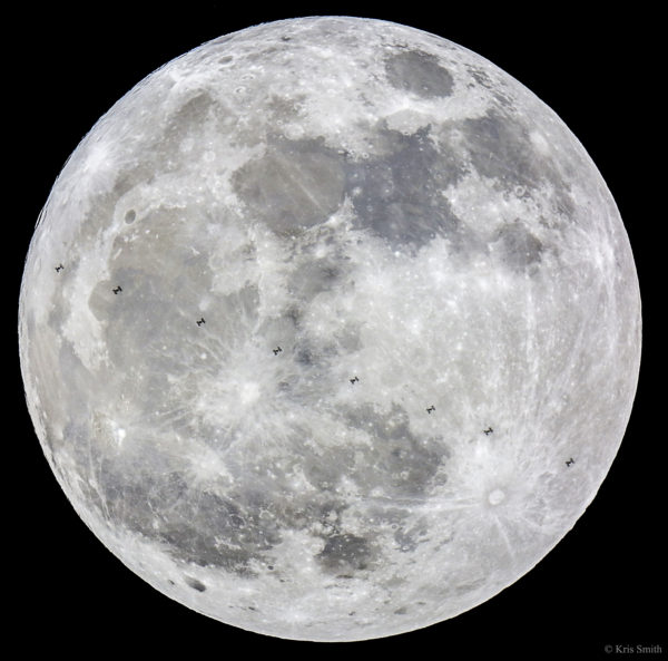 Supermoon and Space Station