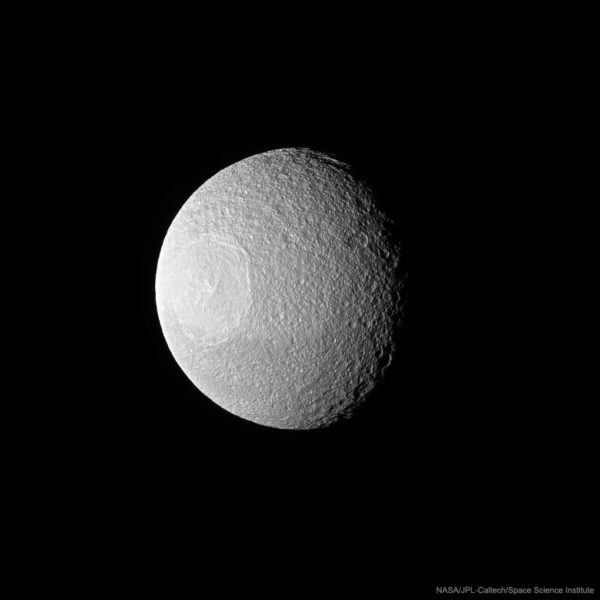 Odysseus Crater on Tethys