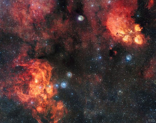 NGC 6357: The Lobster Nebula