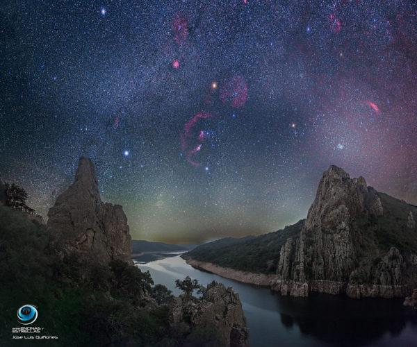 A Dark Winter Sky over Monfragüe National Park in Spain
