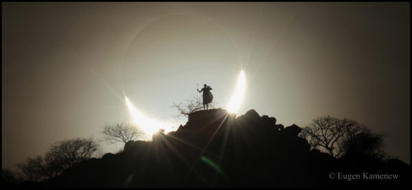 A Hybrid Solar Eclipse over Kenya