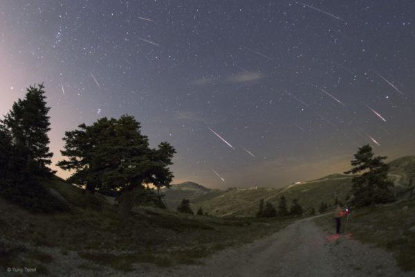 Perseid Meteors over Turkey