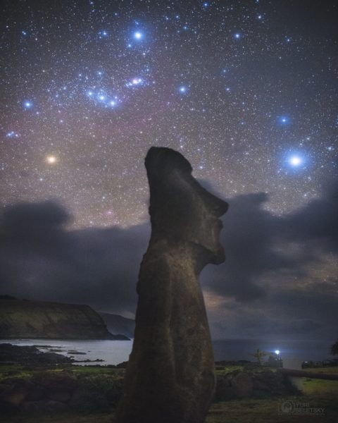 Orion above Easter Island