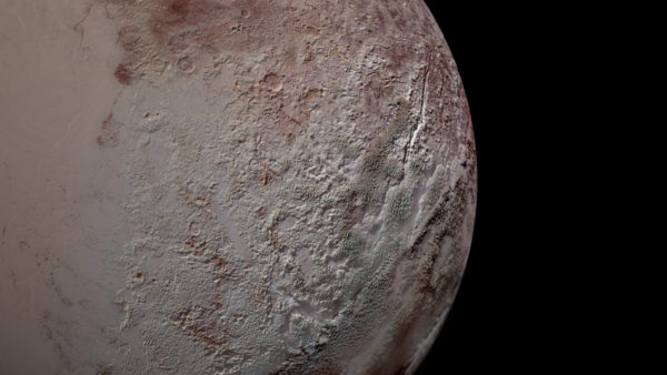 Pluto's Bladed Terrain