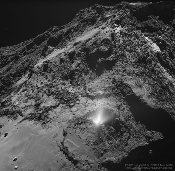 A Dust Jet from the Surface of Comet 67P
