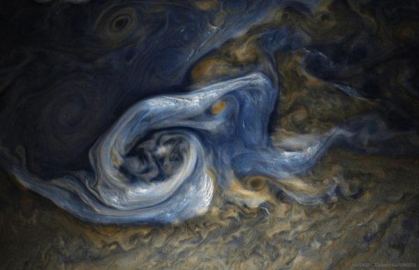 Juno Spots a Complex Storm on Jupiter